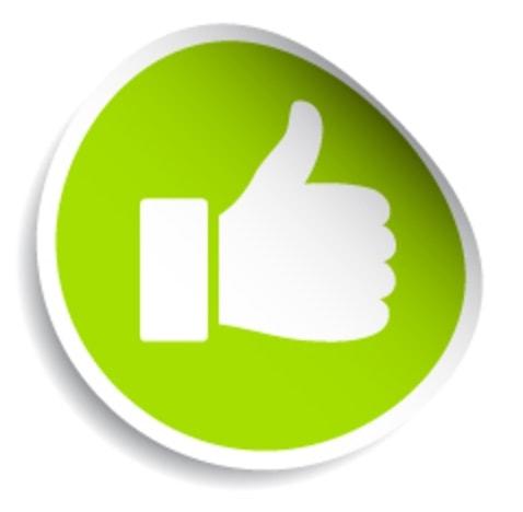 gute Bewertung grüner Daumen
